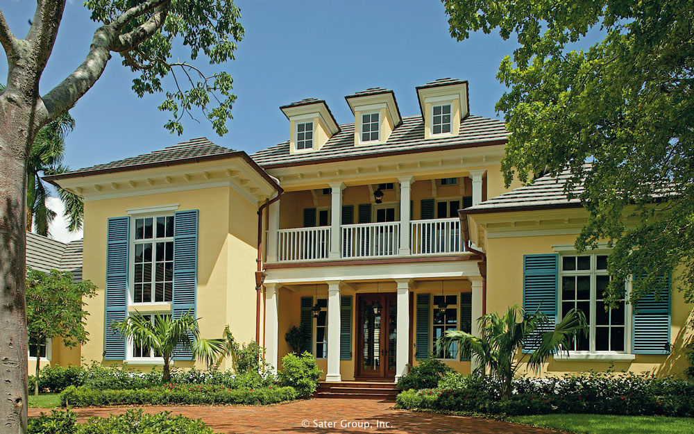 The sanabria custom residence for West indies style homes